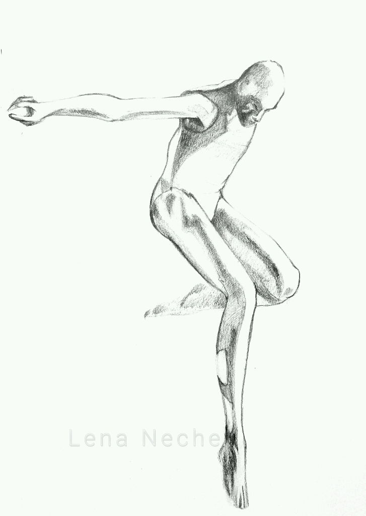 Male Dancer Jump Lena Nechet