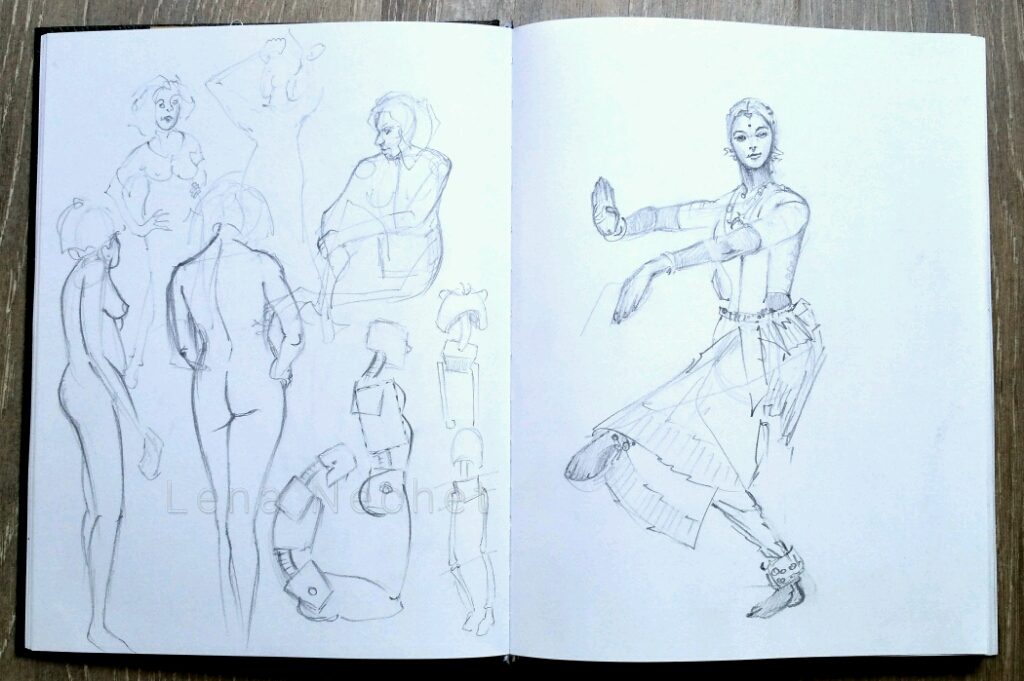 Sketchbook Life Nudes Dancer Lena Nechet