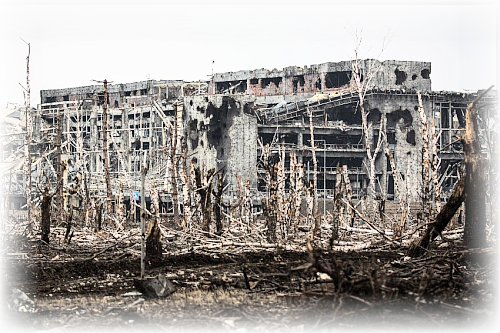 donetsk airport destroyed